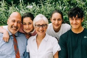 Contini Family, left to right, Victor, Arianna, Carina, Carla, Orlando. Picture: TSPL