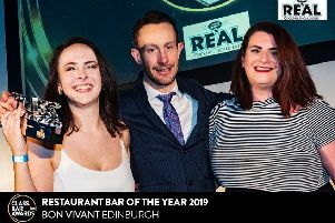 Bon Vivant Edinburgh win best restaurant and bar award