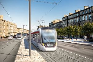 Controversial plans to take trams to Newhaven will carry a �207m price tag.