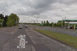 Long queues have been reported this morning on the A8 near Edinburgh Airport due to a lane closure. Picture: Google Street View