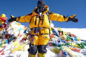 Mollie Hughes on south side of Everest during her 2012 climb.