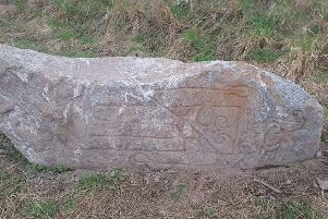 The stone, which was found on a building site on the outskirts of Elgin, could be Pictish in origin. PIC: Wayne Miles/Pictish Arts Society.