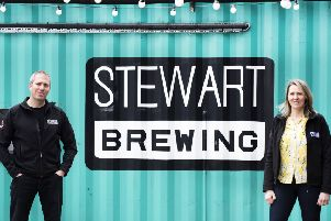 New four pack of craft beer from Edinburgh brewery Stewart's has been launched at Lidl.''Steve and Jo Stewart the owners of Stewart's brewing.' 'Pic by Julie Howden.
