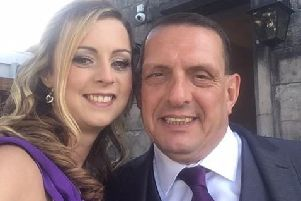 Michael Hodgson with friend Stacey Clark. Picture: Contributed