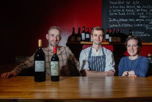 George Murdoch, Jonathan Cook and Imogen Alabaster of Whiskers, which has opened in Raeburn Place 05/03/19