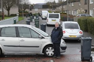 Ronnie Scotland was protesting over missed bin collection in Muirhouse
