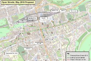 The route for the first three Open Street events has been revealed. Picture: OpenStreetMap