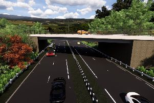 The new 'Burnshot Bridge is expected to be complete by next spring.