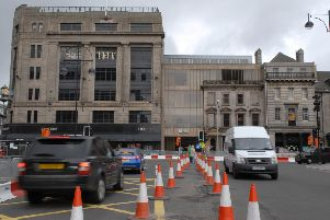 Lothian Road is set to be closed in phases over the next 7 weeks. Picture: TSPL