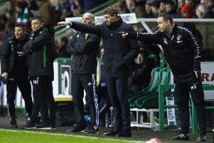 Rangers manager Steven Gerrard was unhappy with the referee's performance in the draw with Hibs. Picture: SNS/Ross MacDonald