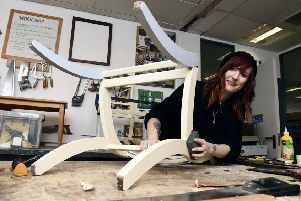 Steph Bowring at the Edinburgh Remakery. Pic: Lisa Ferguson