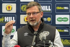 Craig Levein has laughed off complaints made by Gary Caldwell about Hearts striker Uche Ikpeazu. Picture: SNS Group