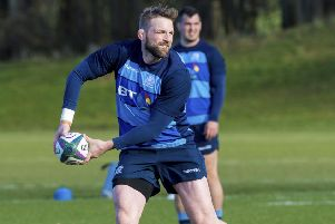 John Barclay has trained with Scotland as he comes back from injury. Picture: SNS