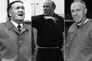 Jock Stein, Sir Matt Busby and Bill Shankly. Pictures: Getty Images/TSPL
