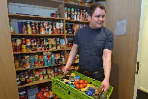Food bank use was on the rise in Scotland last year, a charity warned. Picture: Jon Savage
