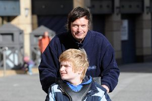 Ian Rankin with his son Kit. Picture: Phil Wilkinson/ TSPL