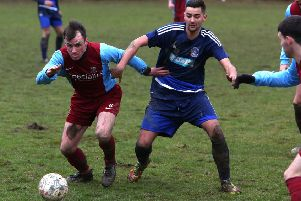 James McPartlin, left, in action for Whitehill Welfare. Pic: TSPL