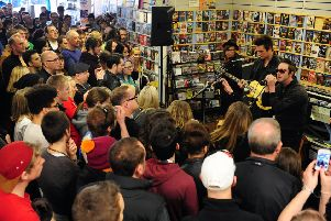 Glasvegas play to a packed Avalanche store in the Grassmarket in 2013. Picture: Ian Rutherford