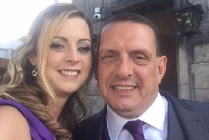 Michael Hodgson- with his friend Stacey Clark. Picture: Contributed