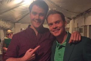 Jamie Kennedy with former Masters champion Danny Willett