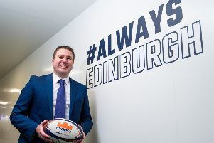 Douglas Struth is a season ticket holder with Edinburgh Rugby