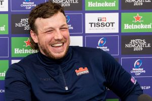 Hamish Watson was in a positive mood as he faced the media at BT Murrayfield