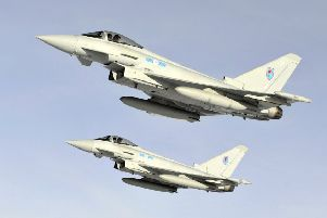 The Typhoons were scrambled from Lossiemouth. Picture: RAF
