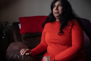 Kirin Saeed talks about her husband Sandy's suffering. Picture: Chris Leslie