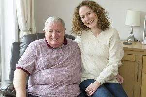 Kirsty Sowden and her father James Ponton.