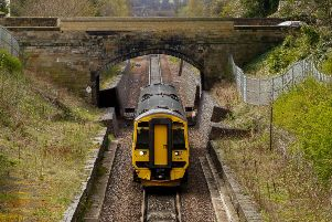 A train passes Eskbank on the Borders Railway in April 2018. The 30-mile route opened in 2015, and follows part of the orginal Waverley line which closed in 1969. Picture: Scott Louden