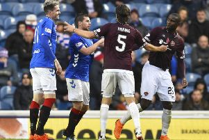 Hearts lost 3-1 on their last trip to Ibrox. Picture: SNS