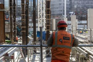 The new St James Centre is taking shape at the top of Leith Walk. Picture: Andew O'Brien