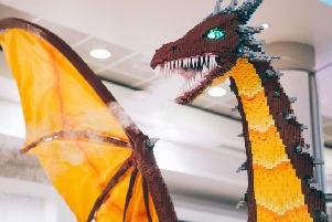 An 8ft Lego dragon will be appearing. Pic: contributed