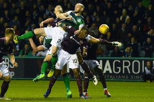 Hearts and Hibs will contest the third Edinburgh derby of the 2018/19 campaign tomorrow. Picture: SNS Group