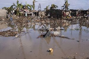 A settlement in Beira, Mozambique, destroyed by Cyclone Idai