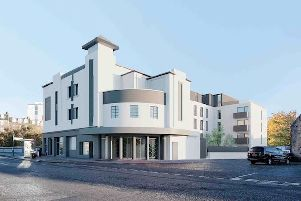 Artist impression of the redeveloped State cinema which will feature 36 Scandinavian-style flats. Picture: Glencairn Properties/ISA Architects