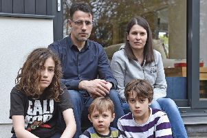 The McKay family holiday has been ruined by passport thieves.''Picture: Neil Hanna