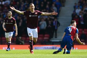 Peter Haring during Hearts' 3-0 Scottish Cup semi-final win over Inverness CT. Picture: Getty