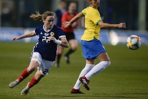The World Cup-bound Scotland team defeats Brazil in a friendly in Spain (Picture: Lorraine Hill)