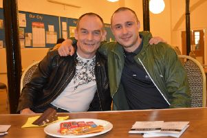 Steps to Hope founder Richard Roncero (right) with service user Scott Forbes who is grateful for the charity's support.