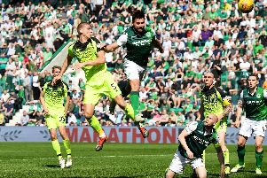 Celtic defender Jozo Simunovic has a late header saved by Ofir Marciano.
