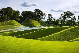 Cells of Life by Charles Jencks, 2005. Image courtesy of Jupiter Artland, by Allan Pollok Morris.