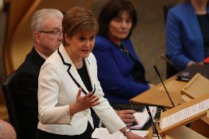 Nicola Sturgeon spoke to MSPs about her plans for second independence referendum
