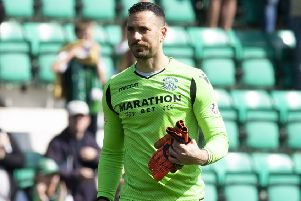 Ofir Marciano has been in excellent form with Hibs. Pic: SNS