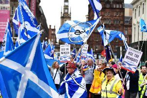 Support for Scottish independence is on the rise, according to a new YouGov poll. Picture: John Devlin
