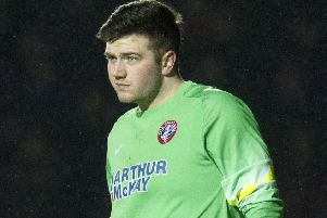 Blair Carswell saved three penalties for Spartans