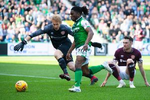 Hibs fans were impressed with Stephane Omeongas performance against Hearts.