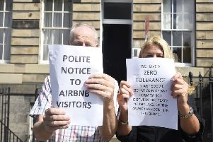 Edinburgh residents who are fed up with AirBnB. Picture: Greg Macvean