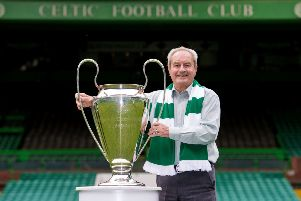 Stevie Chalmers with the European Cup in 2014. Picture: SNS