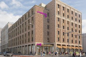 Artist impression of the hotel
